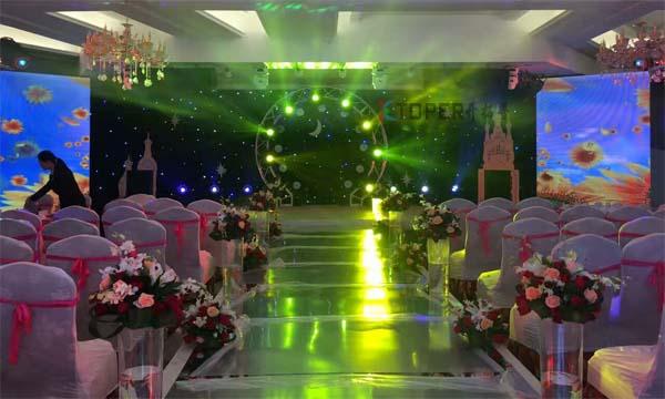 LED屏为婚礼突显高端档次